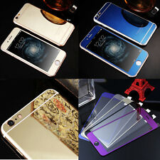 New Full Cover Colored Tempered Glass Film Screen Protector For Apple iphone
