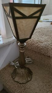 Tiffany  MISSION Style Stained Glass  MINI TORCH  LAMP Bulb INCLUDED