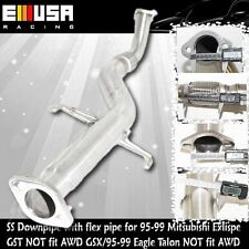 "3"" SS Downpipe w/Flexpipe fits 95-99 Eagle Talon DSM 2nd Gen 4G63"