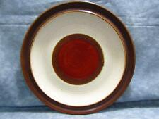 """Potter's Wheel Rust Red by Denby-Langley 8-1/4"""" Salad Plate Brown Rim B137"""
