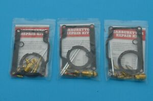 3 Kits - Suzuki GT750 1972 - 73  Carb Repair Overhaul Kit Carburettor