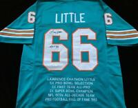 Larry Little Signed Autograph Football Stat Jersey JSA COA Miami Dolphins Great