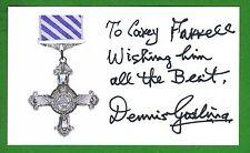 Dennis Gosling Dec WWII Night Fighter Navigator RAF Signed 3x5 Index Card E14402