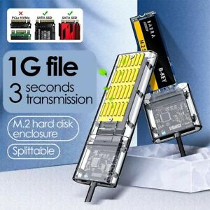 M2 SSD CASE SATA Chassis M.2 To USB 3.0 SSD Adapter PCIE NGFF SATA M / B Key SSD