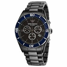 Emporio Armani AR1429 Men's Black Ceramica Ceramic Chronograph Watch