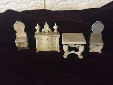 Lot Of 4 Antique Ceramic Victorian Dollhouse Furniture DL