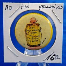 """1896 High Admiral Cigarettes Yellow Kid Advertising Pin Pinback Button 1 1/4"""""""