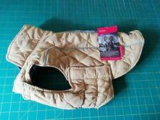 ThinkPet ComfortPro Warm Reversible Dog Coat Jacket Padded Winter Yellow Brown M