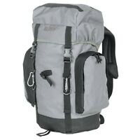 Military Style Grey Tactical Black Gear Bag 25 Liter Day Pack Backpack Survival