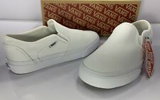 Vans Asher Low Slip On Sneaker Wht/Wht - Women's Size: 8.5 M US