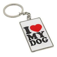 I Love My Dog Keyrings / Bag Chains Gift