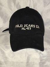 Polo Jeans Co. RL-67 Ralph Lauren Black Spell Out Strapback Hat