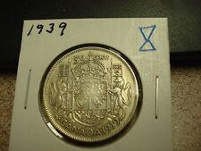 1939 - Canada - Silver 50 cents - Circulated half dollar - Nice Coin -