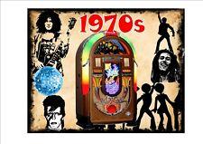 JUKEBOX 1970 S stile vintage Segno Piastra a parete Bowie Marc Bolen discoteca sign 1970 S