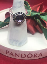 PANDORA Ring Floral Elegance Light Amethyst Size 54 Authentic Ale  # 190850 PAM