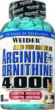 Weider ARGININA + ornithine 4.000 Bote con 180 Cápsulas ( Pro 100 g)