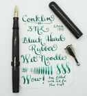 Vintage CONKLIN fountain pen WET NOODLE FLEX nib F to BBB (2.5 mm) BCHR 1915