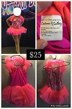 Lot of 9 Gently Used Girls Dance Costumes, sizes CL and CXL