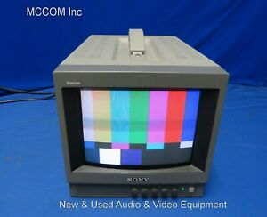 """Sony PVM-8040 8"""" Color Analog CRT Monitor w/ clear screen"""