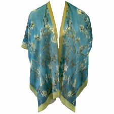 NEW NWT Cocoon House Art to Wear Almond Blossom 100% Silk Kimono Top Large / XL