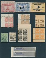 Lot Stamp Germany Poland Serbia Revenue WWII Sugar Vodka Motor License Cigar MNG