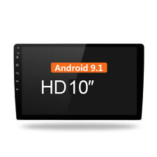 Android 9.1 10 Inch Car Stereo Radio No-DVD Player In Dash Car GPS Navi Wifi FM