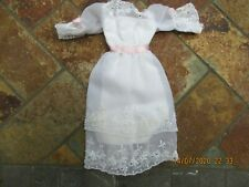 Vintage Barbie Clothing, White Party Dress
