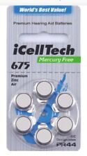 iCell Tech Size 675 Hearing Aid Batteries (30 Batteries)With Free Battery Caddie