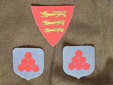 Force 135 Jersey Set reproduction printed badges WWII for Battledress