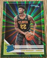 2019-20 Donruss Cam Reddish Rated Rookie /99 Green Laser #209 Atlanta Hawks