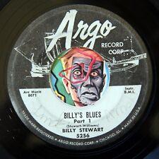 HEAR Billy Stewart 45 Billy's Blues ARGO 5256 instro R&B soul Bo Diddley