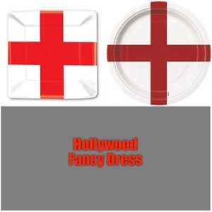St George England Paper Plates Fancy Dress Tableware