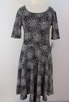XL LuLaRoe Noir & Blanc Nicole Dress Beautiful White Black Floral NWT 13