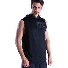 Under Armour UA MK1 Tech Terry ColdGear Black Mens Sleeveless Sports Gym Hoodie