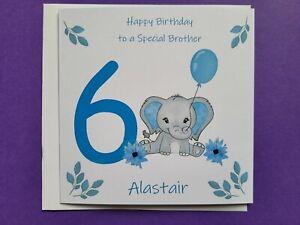 Age 6 Birthday card, Son, Grandson, Nephew, Godson, Happy Birthday, personalised