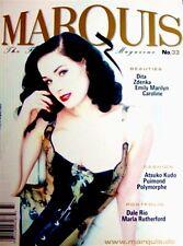 Marquis Magazine No.33 Fashion Fantasy 2005.Dita Von Teese.New (Last One)