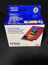 Epson S020191 S020089 Ink Cartridges Stylus Color 400 600 740 NIB Exp 09/2010