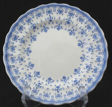 Spode Fleur de Lys Bread and Butter Plate Blue on White Vintage crazing