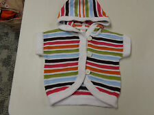 GYMBOREE  FALL HOMECOMING STRIPED HOODED SS  CARDIGAN SWEATER   2T  2