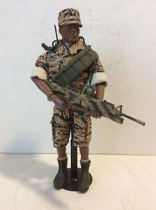 "GI Joe Custom 12"" Tripwire Toys Gold Tiger Stripe Uniform  Soldier + Gear Mint"
