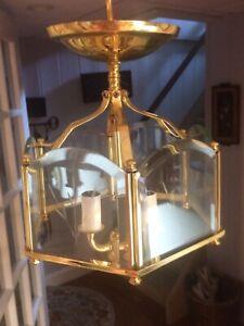 Brass Semi-flush Mount Celing Light Fixture
