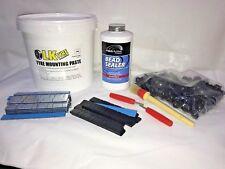 Tyre Fitting Kit,Paste,Bead Sealer,Sitck On Weights,TR414 & Keys Free Black SOW
