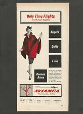 AVIANCA The Colombian Airline .Since 1919 - 1964 Vintage Print Ad