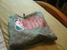 New       NBA big logo NWT Mens Pullover Hoodie Sweater Gray Black Red L