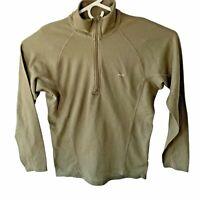 Patagonia Capaline Mens S Brown  1/4 Zip Base Layer Shirt Long Sleeve 44440 S8