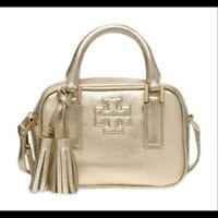 Tory Burch Thea Mini Crossbody Gold Satchel