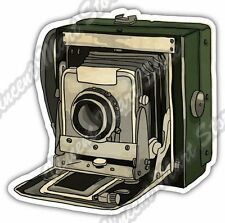 "Old Vintage Retro Photo Camera Photographer Car Bumper Vinyl Sticker Decal 4""X5"""