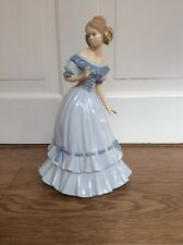NARCO CERAMIC BLUE GOWNED LADY FIGURINE- 27cm Tall