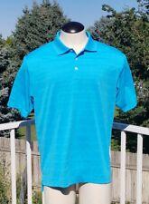 Mens Adidas Golf  Blue Polo Shirt Large, EUC