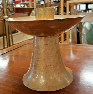 Arts & Crafts Hammered Copper Candlestick